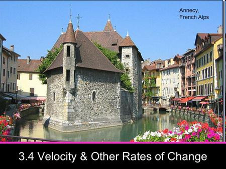3.4 Velocity & Other Rates of Change