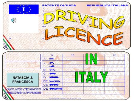 NATASCIA & FRANCESCA. DRIVING LICENCE 1. Family name 2. Given name(s) 3. Date and place of birth 4a. Date of issue 4b. Expiry date 4c. Issuing authority.