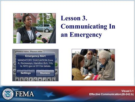 Lesson 3. Communicating In an Emergency