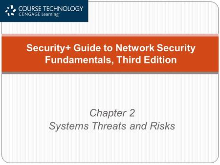 Chapter 2 Systems Threats and Risks Security+ Guide to Network Security Fundamentals, Third Edition.