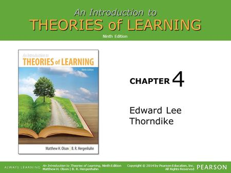 Ninth Edition 4 Edward Lee Thorndike.