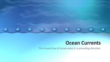 The steady flow of ocean water in a prevailing direction.