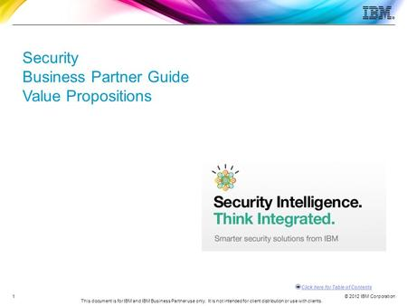 Security Business Partner Guide Value Propositions