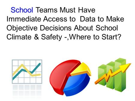 School School Teams Must Have Immediate Access to Data to Make Objective Decisions About School Climate & Safety -,Where to Start?