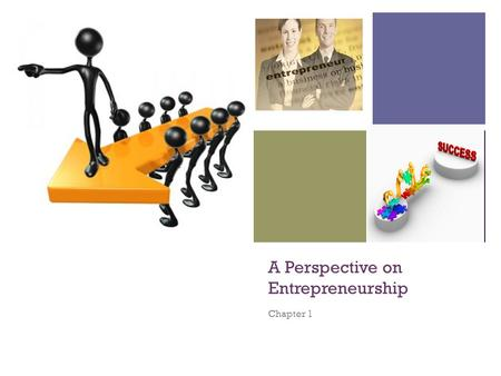 + A Perspective on Entrepreneurship Chapter 1. + ENTREPRENEURSHIP an important component of a capitalist economy thrives in economic systems that support.