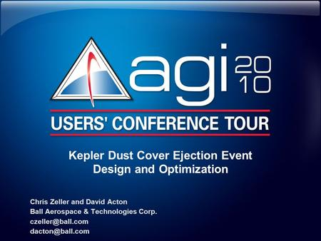 Kepler Dust Cover Ejection Event Design and Optimization