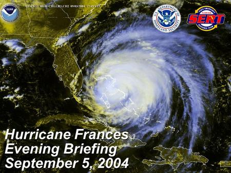Hurricane Frances Evening Briefing September 5, 2004.