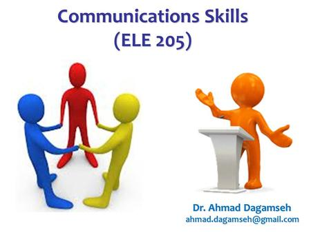 Communications Skills (ELE 205)