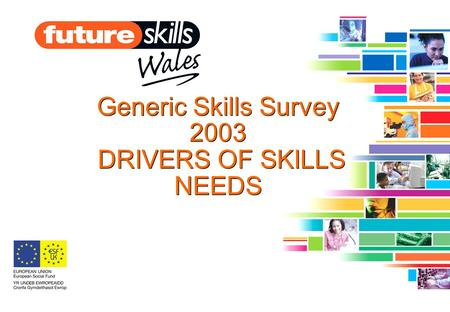 Generic Skills Survey 2003 DRIVERS OF SKILLS NEEDS.