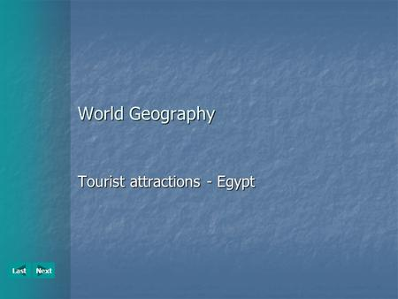 Tourist attractions - Egypt