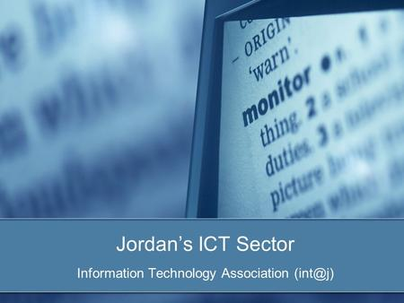Jordan's ICT Sector Information Technology Association