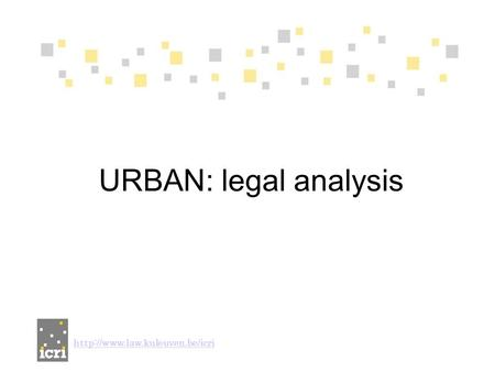 URBAN: legal analysis