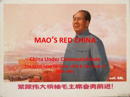 MAO'S RED CHINA China Under Communist Rule
