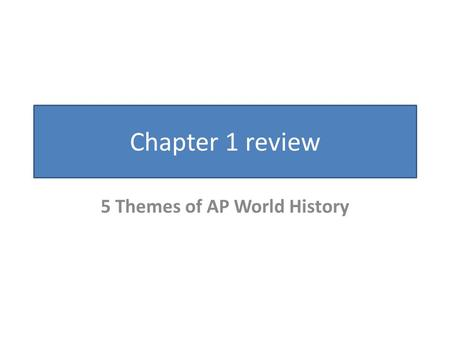 apwh dbq thesis