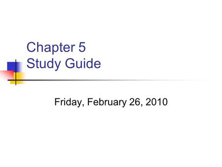 Chapter 5 Study Guide Friday, February 26, 2010. Section 1 Understand what a fault is. Be able to describe the different types of faults. Be able to discuss.