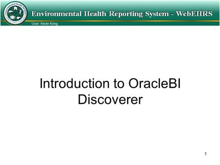1 Introduction to OracleBI Discoverer. 2 Beginning Note: Just as any windows based application there are always many different ways to accomplish the.