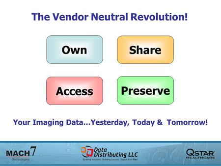 Own Share Access Preserve The Vendor Neutral Revolution! Your Imaging Data…Yesterday, Today & Tomorrow!