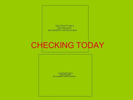 CHECKING TODAY. ADVANTAGES OF REGULAR CHECKING ACCOUNTS Safe means of transporting money Legal proof of payment Form or recordkeeping ADVANTAGES OF eCHECKING.