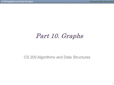 CS 200 Algorithms and Data Structures