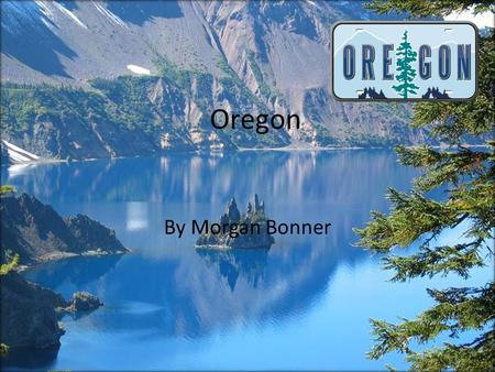 Oregon By Morgan Bonner The state outline My state is Oregon This is the outline of Oregon.