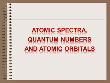Atomic Spectra A spectroscope is an instrument that disperses the light emitted by an excited gas into the different frequencies the light contains. Light.