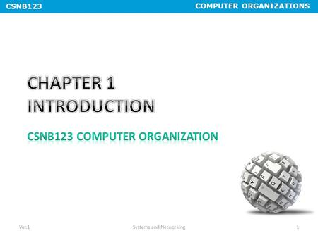 COMPUTER ORGANIZATIONS CSNB123 Ver.1Systems and Networking1.