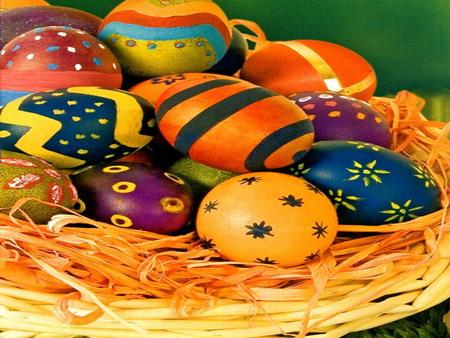 Easter eggs are special eggs given to celebrate the Easter holiday or springtime..