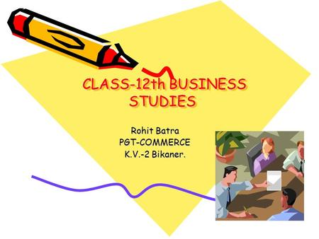 CLASS-12th BUSINESS STUDIES