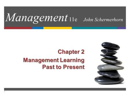 Management 11e John Schermerhorn Chapter 2 Management Learning Past to Present 1.