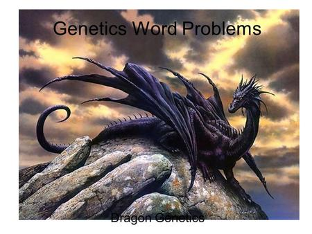 Genetics Word Problems