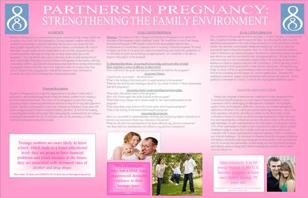 OVERVIEW Partners in Pregnancy is a community program aimed at giving young couples the resources they need with their pregnancy. Young pregnant couples.
