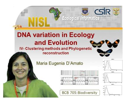 Available at  DNA variation in Ecology and Evolution DNA variation in Ecology and Evolution IV- Clustering methods and Phylogenetic.