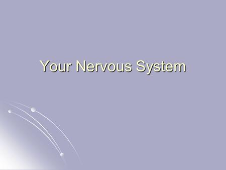Your Nervous System. Engage Lorenzo's Oil Discussion Lorenzo's Oil Discussion.