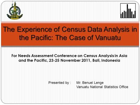 For Needs Assessment Conference on Census Analysis in Asia and the Pacific, 23-25 November 2011, Bali, Indonesia The Experience of Census Data Analysis.