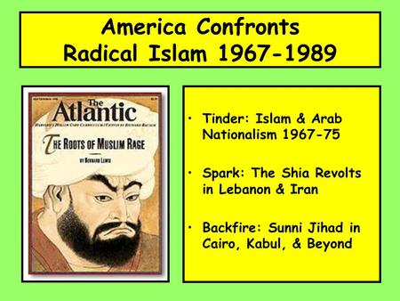 America Confronts Radical Islam