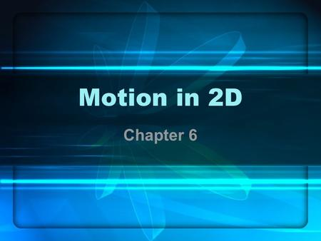 Motion in 2D Chapter 6. 6.1 Projectile Motion Projectile – object shot, launched, kicked, thrown, etc through the air Path is up then down in curve –Called.
