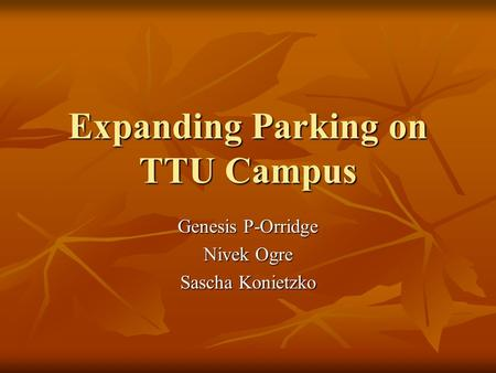 Expanding Parking on TTU Campus Genesis P-Orridge Nivek Ogre Sascha Konietzko.