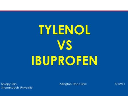 Acetaminophen Vs Ibuprofen Alcohol