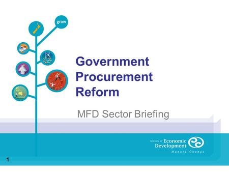 Government Procurement Reform MFD Sector Briefing 1.