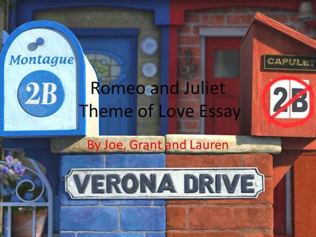 theme of love in act 1 romeo and juliet essay The theme of love, which is characteristic of shakespeare's comedies, also sets romeo and juliet apart from other tragedies in fact, the first two acts of romeo and juliet contain elements of comedy before the tone turns more tragic.
