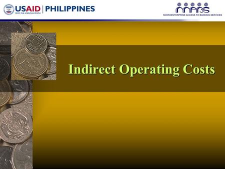 Indirect Operating Costs. Shared Expenses Can the MFU cover its overhead costs?