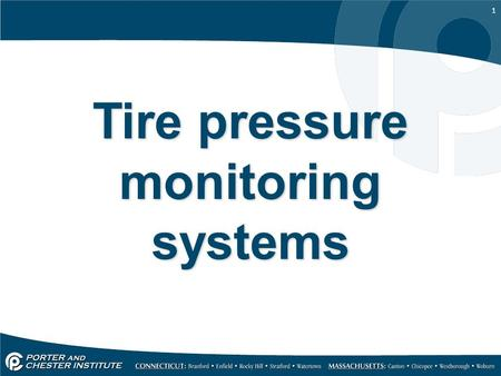Tire pressure monitoring systems