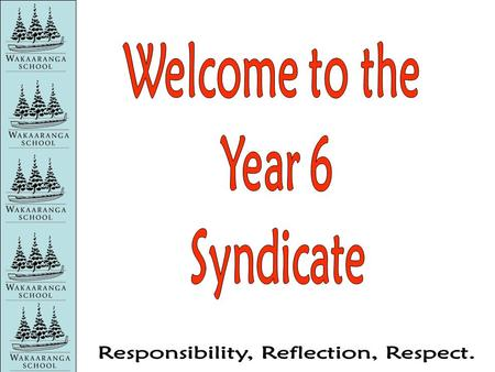 Teachers in the Year 6 Syndicate 6G Wendy Poole (Syndicate Leader) 6F Ludwig Worrall-Bader 6E Michelle Moth 6D Olivia Martin.