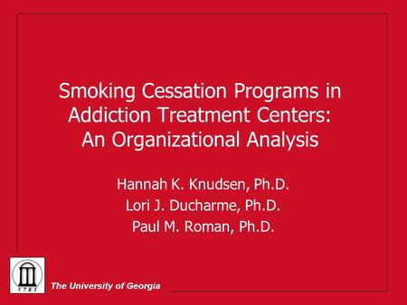 Treating Special Populations Overview Tobacco Treatment