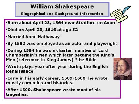william shakespeare a life of drama essay Free coursework on the life of the great william shakespeare from essayukcom, the uk essays company for essay, dissertation and coursework writing.