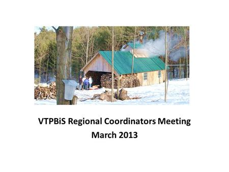 VTPBiS Regional Coordinators Meeting March 2013. Agenda Using the SAS as a tool to assess and address staff buy-in BoQ Procedure Update New Information.