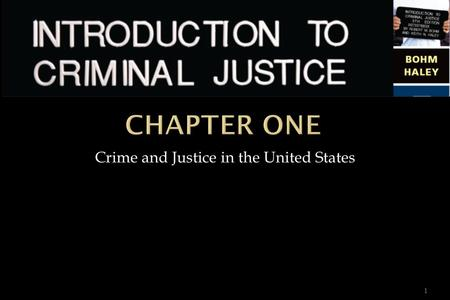Copyright © 2008 The McGraw-Hill Companies, Inc. All rights reserved. 1 Crime and Justice in the United States.