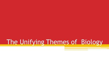 The Unifying Themes of Biology. Intro Life has many levels of organization, and great diversity ▫There are several themes that help to unify the different.