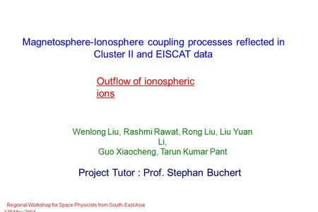 Magnetosphere-Ionosphere coupling processes reflected in