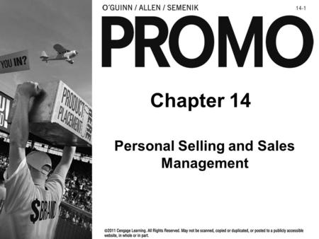 Chapter 14 Personal Selling and Sales Management 14-1.